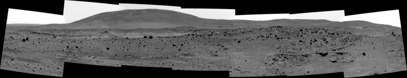 Spirit Panorama from Low Ridge Haven, sol 811