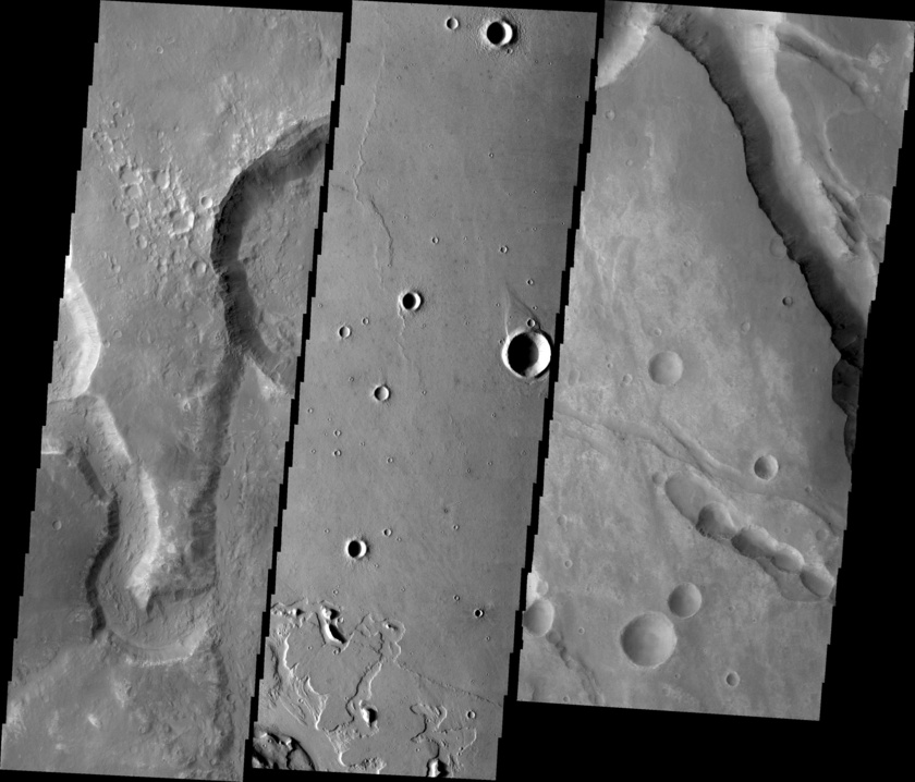 Example Mars Odyssey THEMIS VIS images