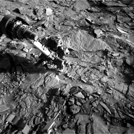 Curiosity drilling at Lubango, sol 1320 (April 23, 2016)