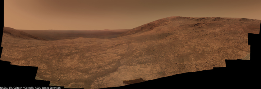 View from the head of Marathon Valley, Opportunity sols 4348-4375