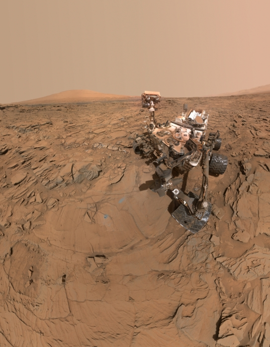 Curiosity self-portrait at Okoruso, sol 1338