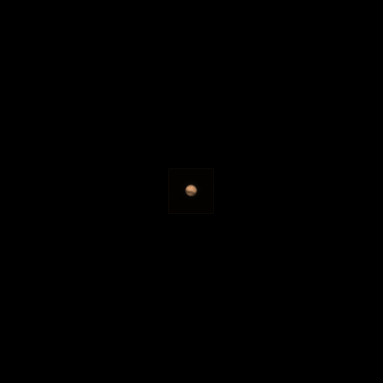 Cruise image of Mars by ExoMars Trace Gas Orbiter (colorized)