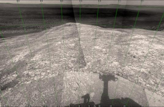 Looking across Endeavour crater