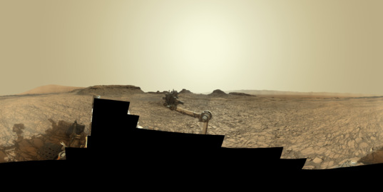 Murray Buttes 360-degree panorama, Curiosity sol 1421