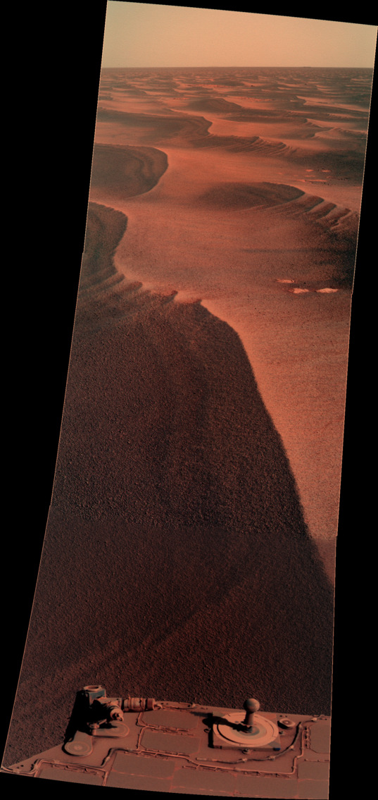 Dunes to the rear