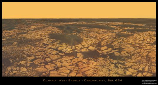 Olympia Outcrop, sol 634