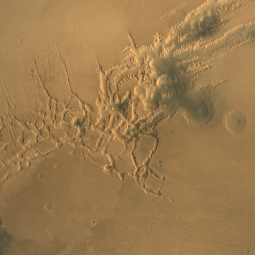 Noctis Labyrinthus from Mars Orbiter Mission
