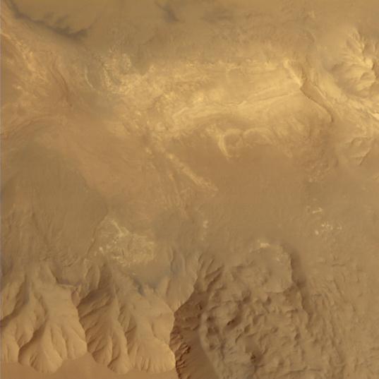 Interior of Valles Marineris from Mars Orbiter Mission