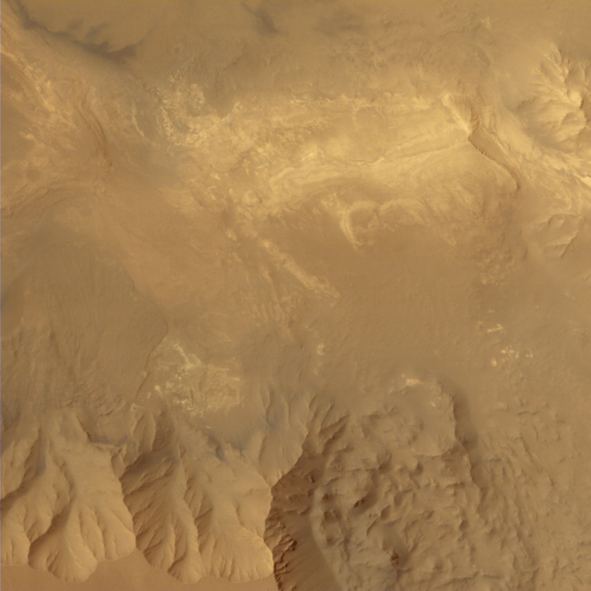 Interior of Valles Marineris from Mars Orbiter Mission