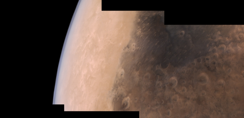 Syrtis Major and the Martian limb from Mars Orbiter Mission