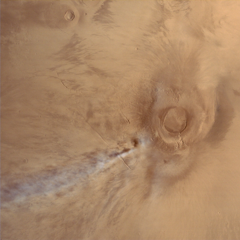 Arsia Mons and cloud, Mars