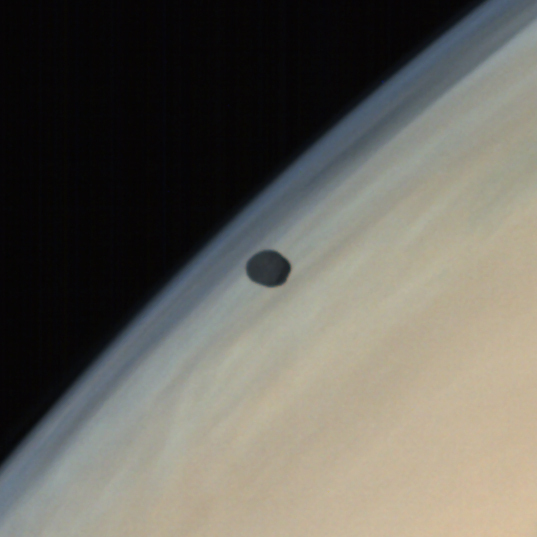 Phobos over Mars from MOM (detail)
