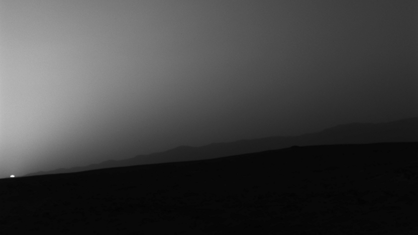Sunset on Mars, Curiosity sol 312