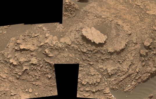 Nodule-filled bedrock outcrop, Curiosity sol 1482