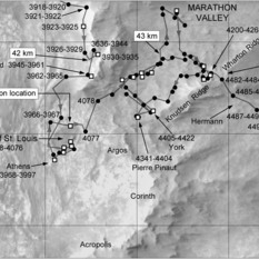 Phil Stooke's Opportunity route maps (updated to sol 4495)