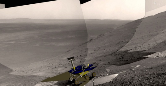 Navcam view of Opportunity's current position