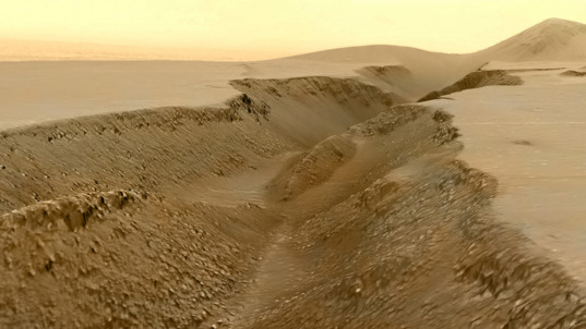 Fissure in the Cerberus region