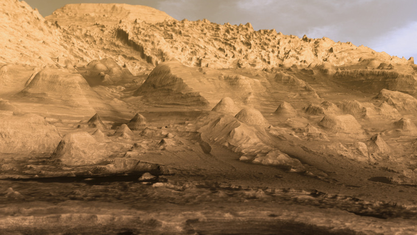 Inverted channels in Gale Crater