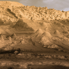 Inverted channels on Mount Sharp in Gale Crater