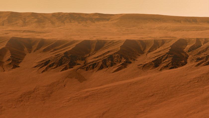 Gullies in Gasa Crater