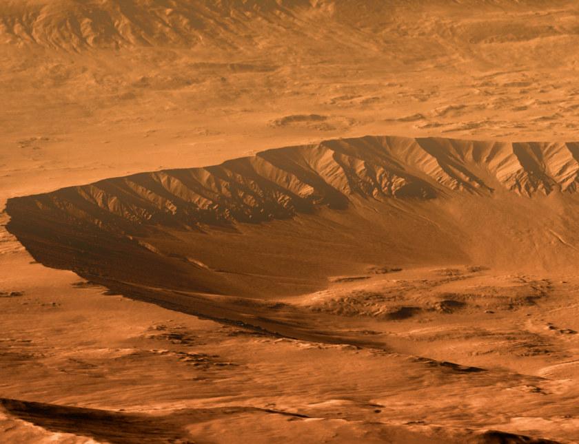 Gasa Crater, Mars
