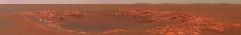 Intrepid Crater from Opportunity