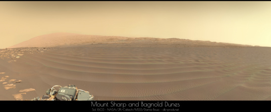 Mount Sharp and southern Bagnold Dunes