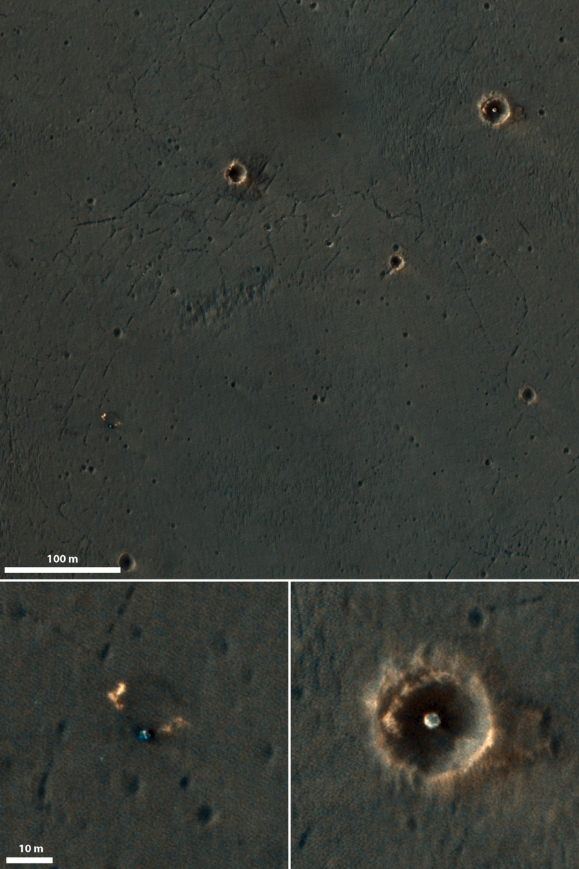 Opportunity's landing site in color for the first time from HiRISE