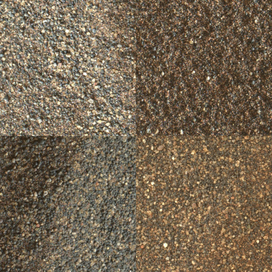 Four stops' worth of sand from Curiosity's second Bagnold campaign