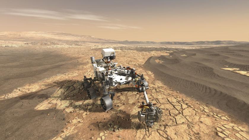 Mars 2020 rover artist's concept