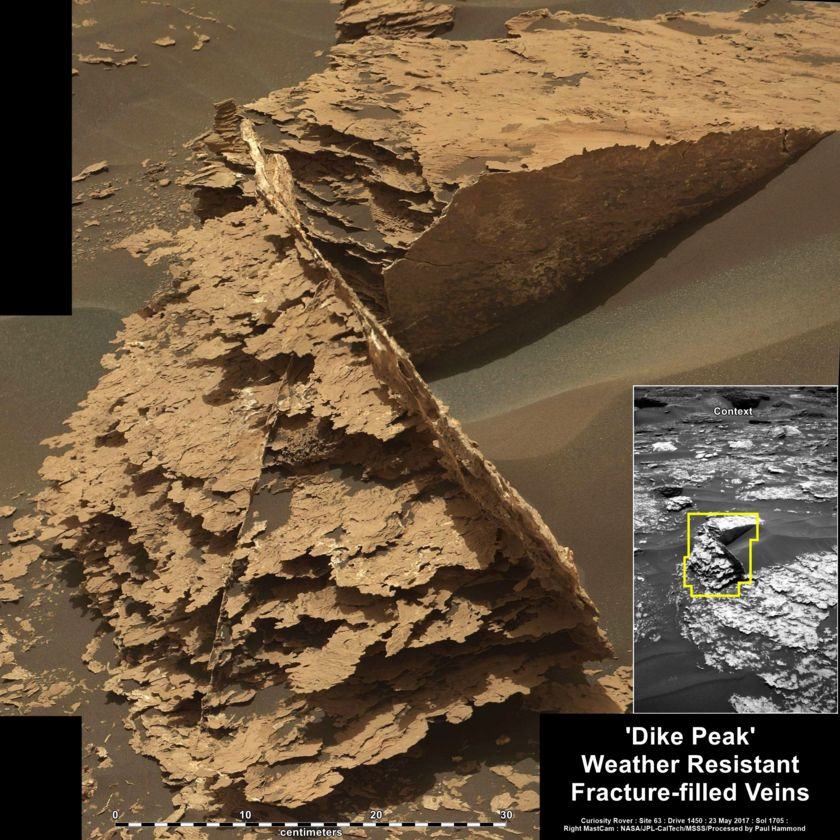 Dike Peak, Curiosity sol 1705