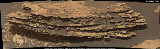 Rhodes Cliff, Curiosity sol 1700 (May 18, 2017)