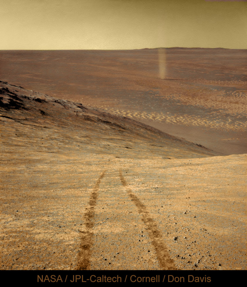 Opportunity sees a dust devil