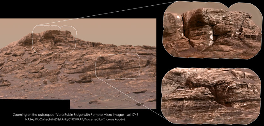 Mastcam-colorized ChemCam views of Vera Rubin Ridge, sol 1745