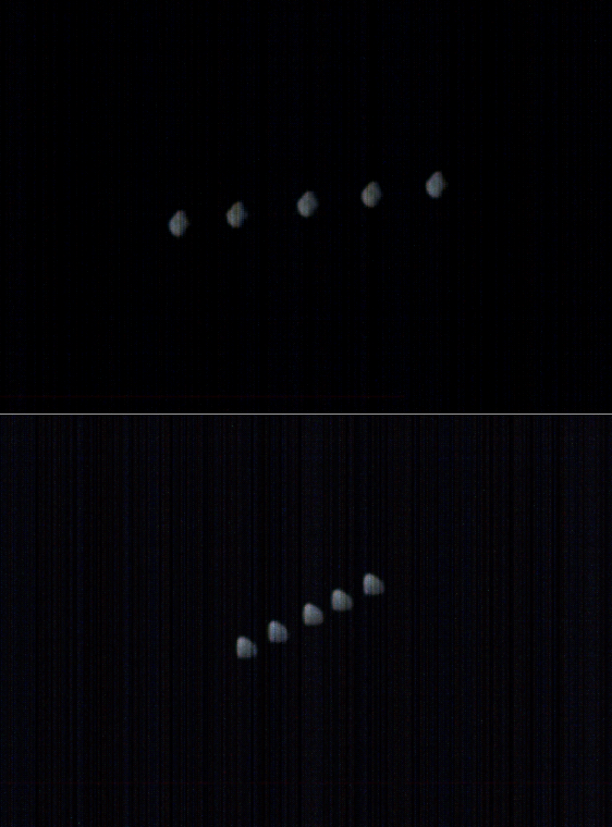 Two sets of Deimos views from Mars Orbiter Mission in 2016