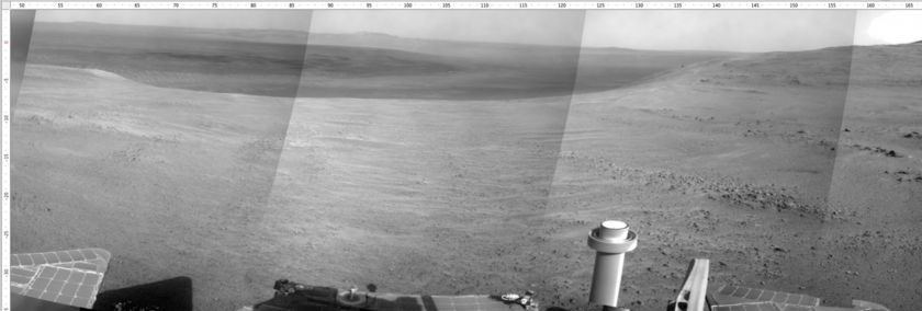 Opportunity's view, sol 4718