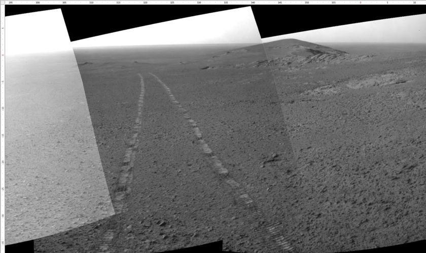 Opportunity's rear view, sol 4669