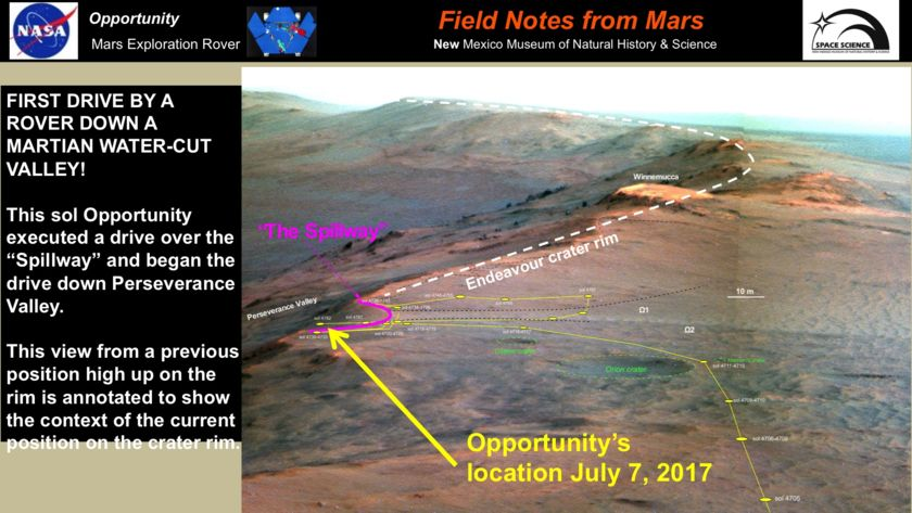Opportunity status as of sol 4782, slide 2