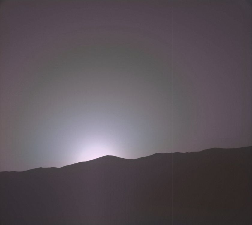 Sunset, Curiosity sol 1880