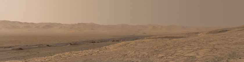 Looking backward from Vera Rubin Ridge, Curiosity sol 1856