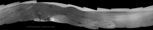 Opportunity Navcam panorama of Perseverance Valley