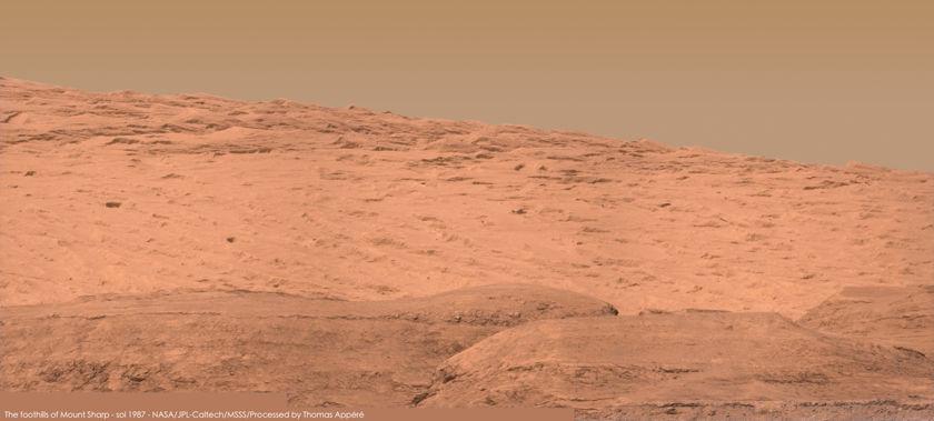 Distant foothills of Mount Sharp, Curiosity sol 1994
