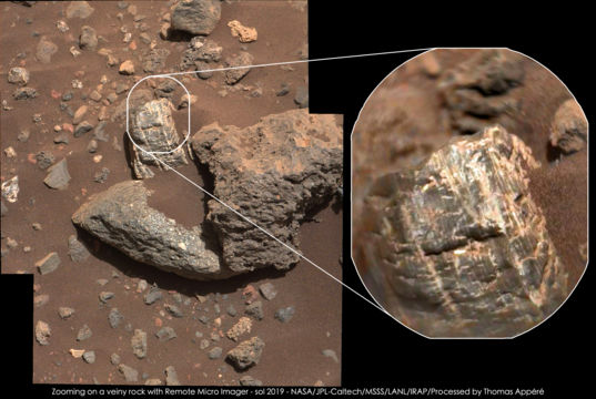 Sanquhar, an interesting rock on Vera Rubin Ridge, Curiosity sol 2019