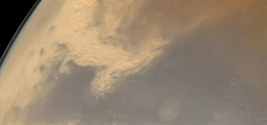 Dust Storm over Thaumasia