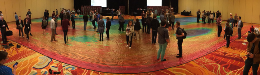 "A wide-field view of planetary scientists ""walking on Mars"" at LPSC 2018"