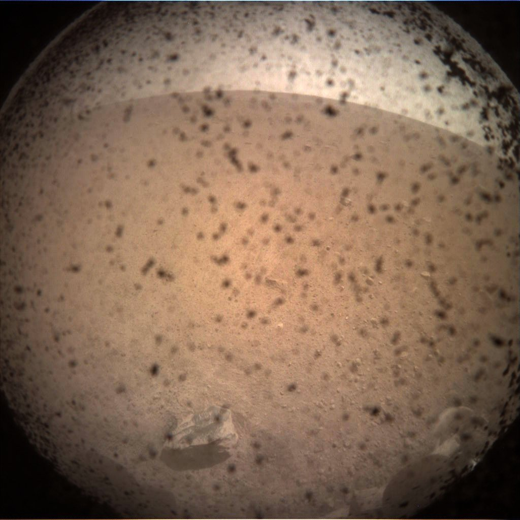 InSight's first picture from the Martian surface