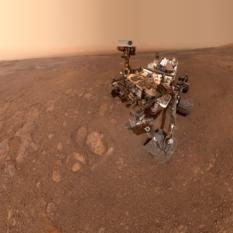 Curiosity self-portrait at Vera Rubin Ridge, sol 2291