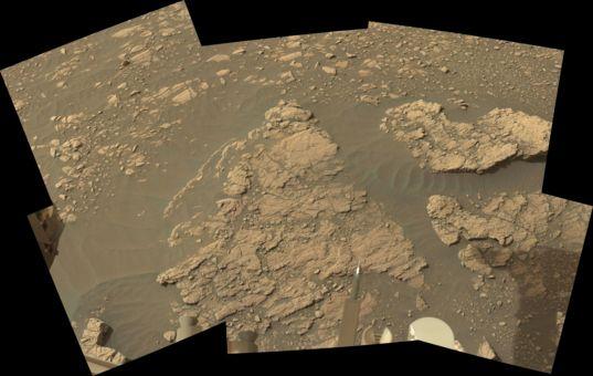 Aberlady outcrop, Curiosity sol 2365