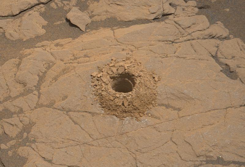 Aberlady drill site, Curiosity sol 2370