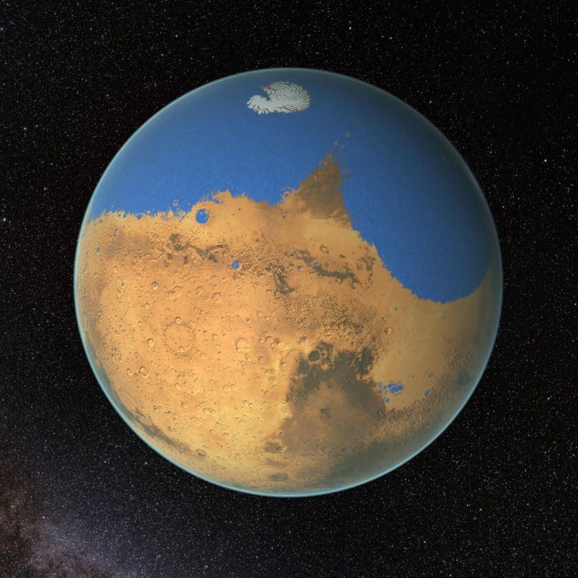 Ancient Mars with water